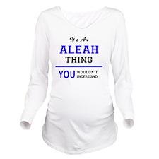 Cute Aleah Long Sleeve Maternity T-Shirt