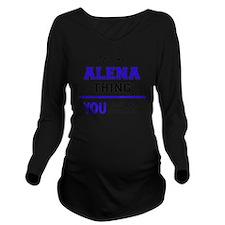 Cute Alena Long Sleeve Maternity T-Shirt