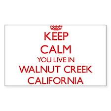 Keep calm you live in Walnut Creek Califor Decal