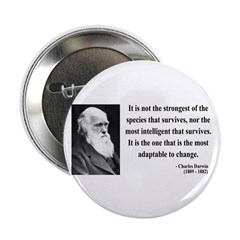 """Charles Darwin 6 2.25"""" Button (100 pack)"""