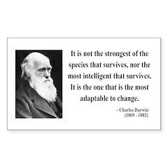 Charles Darwin 6 Rectangle Decal
