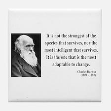 Charles Darwin 6 Tile Coaster