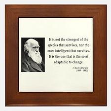 Charles Darwin 6 Framed Tile