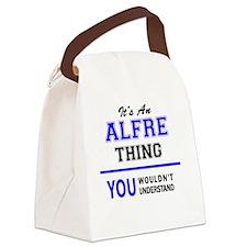 Cute Alfred Canvas Lunch Bag