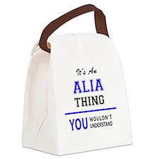 Funny Alia Canvas Lunch Bag