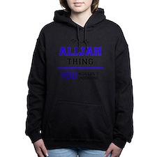 Cute Alijah Women's Hooded Sweatshirt