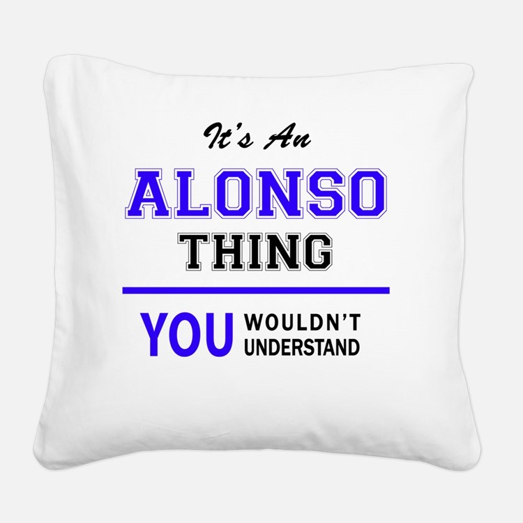 Cute Alonso Square Canvas Pillow