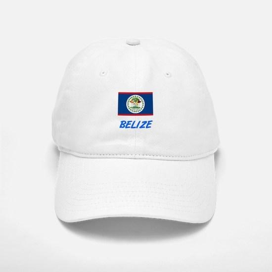 Belize Flag Artistic Blue Design Baseball Baseball Cap