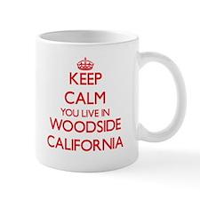 Keep calm you live in Woodside California Mugs