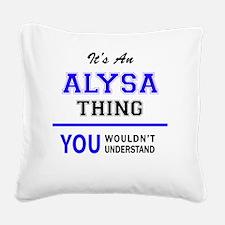 Alysa Square Canvas Pillow