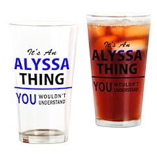 Cute Alyssa Drinking Glass