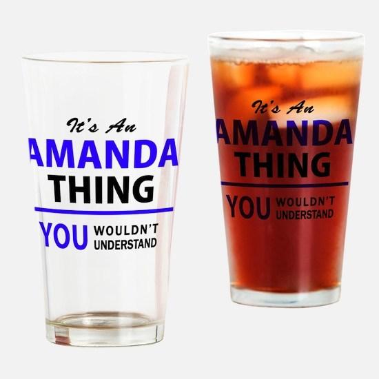 Funny Amanda Drinking Glass