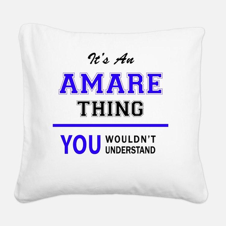Cute Amare Square Canvas Pillow