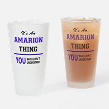 Cute Amarion Drinking Glass