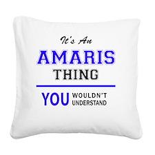 Unique Amari Square Canvas Pillow
