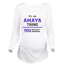 Cute Amaya Long Sleeve Maternity T-Shirt