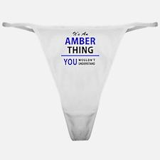 Cute Amber Classic Thong