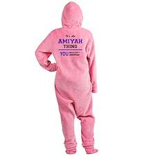 Cute Amiyah Footed Pajamas