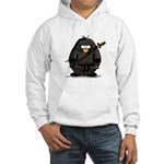 Martial Arts ninja penguin Hooded Sweatshirt