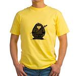 Martial Arts ninja penguin Yellow T-Shirt
