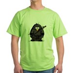 Martial Arts ninja penguin Green T-Shirt