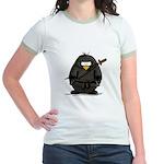 Martial Arts ninja penguin Jr. Ringer T-Shirt