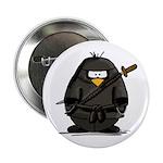 Martial Arts ninja penguin Button