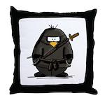 Martial Arts ninja penguin Throw Pillow