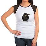 Martial Arts ninja penguin Women's Cap Sleeve T-Sh