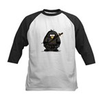 Martial Arts ninja penguin Kids Baseball Jersey