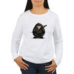Martial Arts ninja penguin Women's Long Sleeve T-S