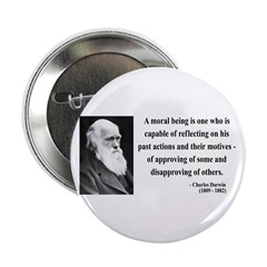 "Charles Darwin 8 2.25"" Button (10 pack)"
