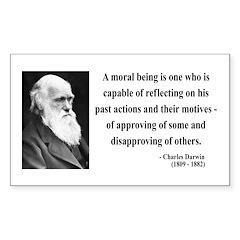 Charles Darwin 8 Rectangle Decal