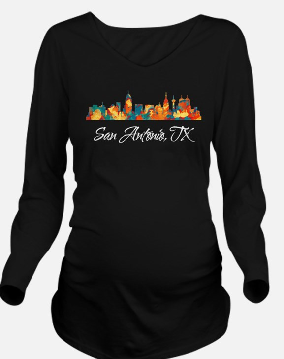 state25dark.png Long Sleeve Maternity T-Shirt