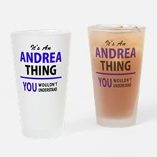 Cute Andrea Drinking Glass