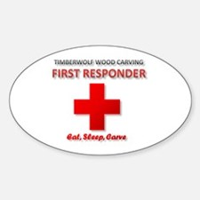 Timberwolf Wood Carving First Responder Decal