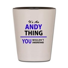 Funny Andy Shot Glass