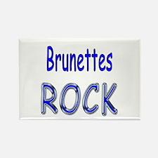 Brunettes Rock Rectangle Magnet