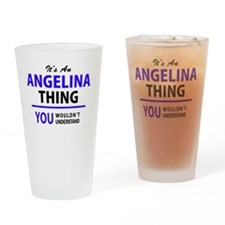 Funny Angelina Drinking Glass