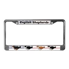 Cute Shepherd License Plate Frame