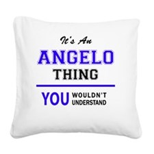 Funny Angelo Square Canvas Pillow