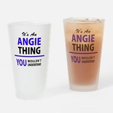 Cute Angie Drinking Glass