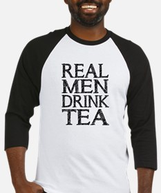 Real Men Drink Tea Baseball Jersey