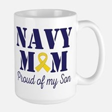 Navy Mom Proud Son Mugs