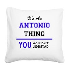 Cute Antonio Square Canvas Pillow