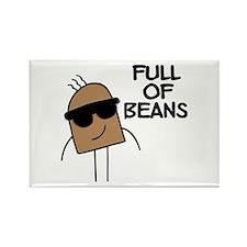 Full Of Beans Rectangle Magnet