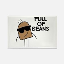 Full Of Beans Rectangle Magnet