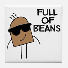 Full Of Beans Tile Coaster