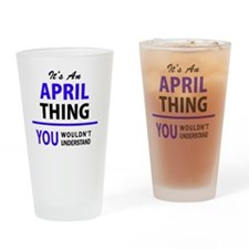 Cute April Drinking Glass