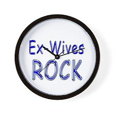 Ex-Wives Rock Wall Clock